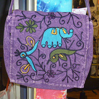 Elephant Hippie Purse Messenger Bag Handmade Crossbody Bag