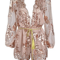 Shooting Star Lace Sequin Romper