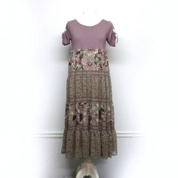 Long Boho Dress, Bohemian Clothing, Boho Chic Clothing, Sustainable Clothing, Upcycled Clothing for Women