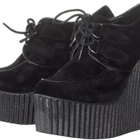 LONDON CALLING CREEPER WEDGES BLK