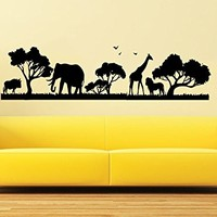 Safari Wall Decal Vinyl Stickers Decals Home Decor Animals Wall Vinyl Decal African Safari Nursery Decor Jungle Bedroom Safari Africa C592