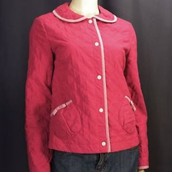 Quilted Jacket With Peter Pan Collar (Sz. 6/8/10) (Anthropologie)