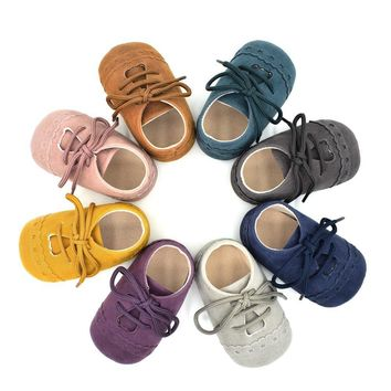 Baby Shoes Leather Moccasins Soft Children Footwear Shoes For Baby Girls Kids Boys Sne