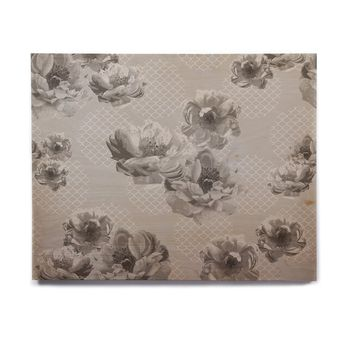 "Pellerina Design ""Lace Peony in Gray"" Grey Floral Birchwood Wall Art"