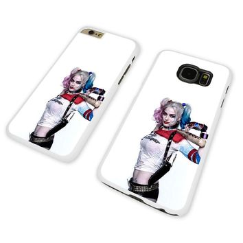 HARLEY QUINN BAT POSE WHITE PHONE CASE COVER fits iPHONE / SAMSUNG (WH)