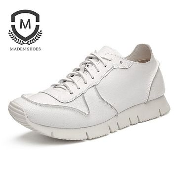 Spring Autumn New Men Casual Shoes Handmade Comfortable High Quality Leather Male Shoes Soft Fashion sneaker