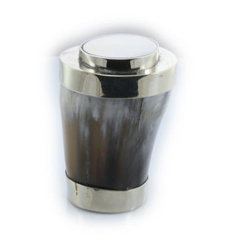 Horn pillbox with german silver
