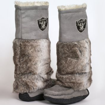 Cuce Shoes Oakland Raiders Ladies The Follower Boots - Gray - http://www.shareasale.com/m-pr.cfm?merchantID=7124&userID=1042934&productID=525372631 / Oakland Raiders