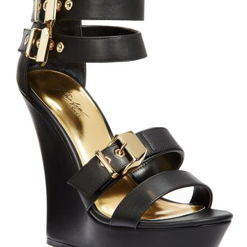 Thalia Sodi Women's Elia Buckle Platform Wedge Sandals