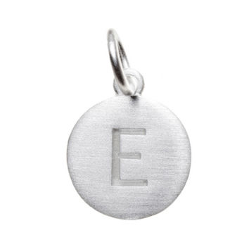 Matte Silver LetterE Initial Charm by Altruette - Room to Read