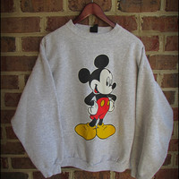 Vintage 90's Mickey Mouse Disney Crewneck Sweatshirt - Size Large