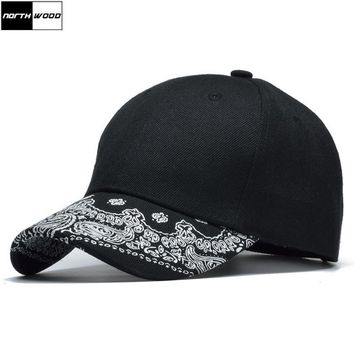 Trendy Winter Jacket [NORTHWOOD] High Quality Print Black Baseball Cap Men Solid Snapback Caps Trucker Hat Bone Masculino Hip Hop Pattern Cap Women AT_92_12