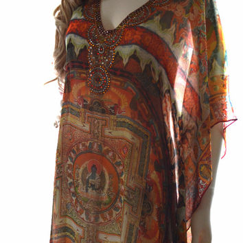 The Buddha Long kaftan dress, caftan kaftan, maxi kaftan, beach dress, kaftan maxi dress, long dress