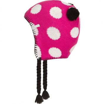 O'Neill Pink Rose Toddler Polka Warm Winter Ski Beanie Hat Cap Skull Headwear