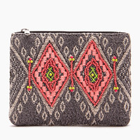 Tribal-Inspired Bead Coin Purse