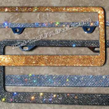 High Quality Swarovski Crystal Bling License Plate Frames