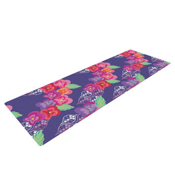 "Anneline Sophia ""Beautifully Boho"" Purple Yoga Mat"