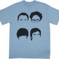 Four Hairlines - Big Bang Theory T-shirt: Adult XL - Light Blue