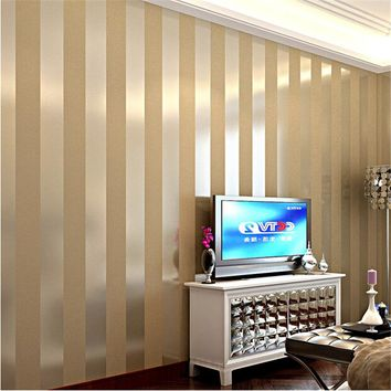 Modern minimalist fashion Wallpaper roll  wallpaper solid color stripe plain vertical stripe wall paper for living room hotel