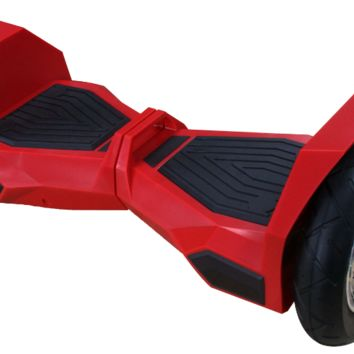 "UL 2272 M38 All Terrain 10"" Lambo Bluetooth Red Hoverboard Smart Self Balancing Electric Scooter v5"