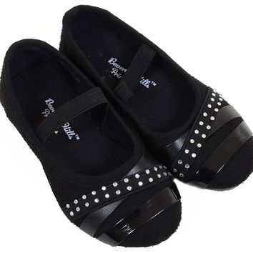 Cute Girls Bling Rhinestone Mary Jane Strap Flat Shoes