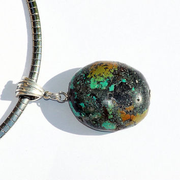 Kingman Turquoise Nugget Necklace