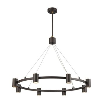 Kempton 8-Light Chandelier in Matte Black