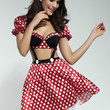 Red Minnie Mouse Suspender Costume Dress