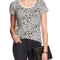 Banana Republic Womens Factory Scoop Neck Luxe Touch Shirt