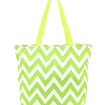 Monogrammed Chevron Tote Bags with Zipper!!
