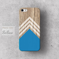 Blue white chevron triangle Geometric on wood, Samsung Galaxy S4 3D-sublimated Unique design iPhone 4/4S case iPhone 5/5S case.