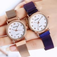 Fashion leisure ladies network with watch luminous pointer digital graduated female students magnet watch