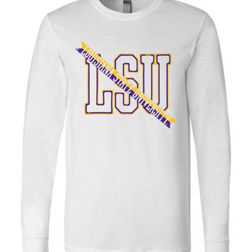 Official NCAA Louisiana State University Tigers LSU GEAUX Tiger Mike Long Sleeve T-Shirt - lsut1044