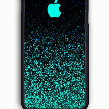 iPhone 6 Case - Rubber (TPU) Cover with Mint Sparkle Rubber Case Design
