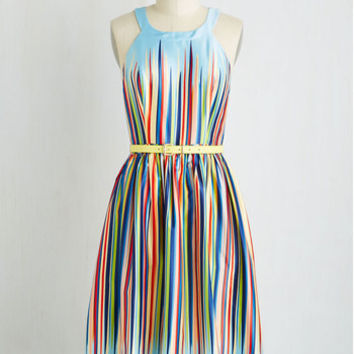 Long Sleeveless A-line What's the Zeal? Dress