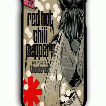iPhone 6S Plus Case - Hard (PC) Cover with red hot chili peppers Plastic Case Design