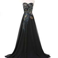 Exlinalesha women's A-line Prom Dresses 2016 Evening Gowns Long ELF001