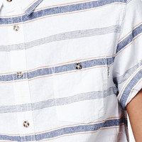 Rhythm Standard Stripe Short Sleeve Button Up Shirt at PacSun.com