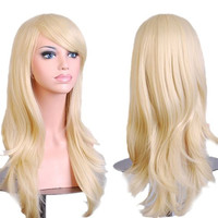 "28 ""Women's Hair Wig New Fashion Long Big Wavy Hair Heat Resistant Wig for Cosplay Party Costume"