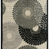 Graphic Illusions Collection Area Rug in Parchment design by Nourison