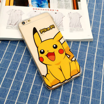 Pika Pi Pikachu Pokemon Phone Case For iPhone 7 7Plus 6 6s Plus 5 5s SE