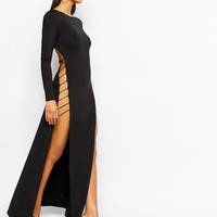 Rare London Cut Out Maxi Dress With Strap Back