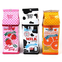 FUNNY MILK CARTON PENCIL CASE CONTAINTER POUCH PENBOX BAGS