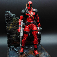 18cm Marvel Univers Super Heros Deadpool Action Figure Collection toys for christmas gift Weapons Free shipping