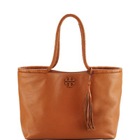 Tory Burch Taylor Braided-Handle Tote Bag