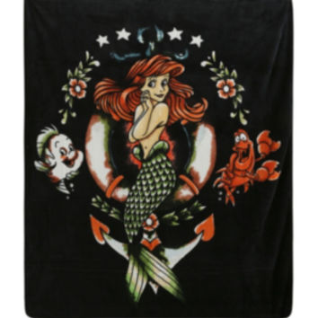 Disney The Little Mermaid Ariel Tattoo Super Plush Throw