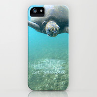 Free Turtle  iPhone & iPod Case by Sunkissed Laughter