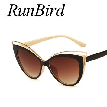 Fashion Classic Women Brand Designer Cateye Sunglasses Female Vintage Lady Sun Glasses Oculo De Sol Shades Summer Style 464R
