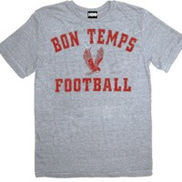 True Blood Bon Temps Football Heather Gray Adult T-shirt  - True Blood Costumes - | TV Store Online