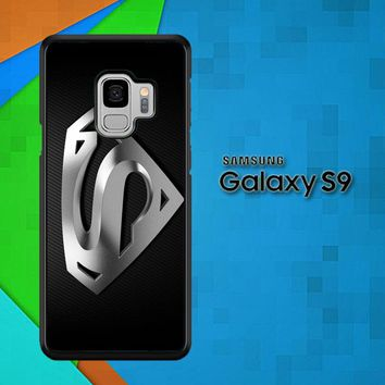 Superman Silver Logo Z1291 Samsung Galaxy S9 Case
